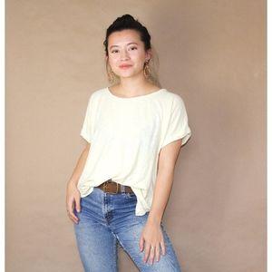 (85) pastel yellow eileen fisher casual tshirt